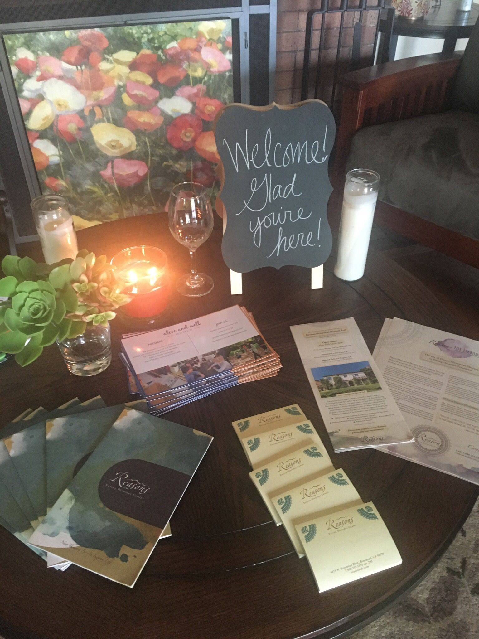 mindful eating welcome table